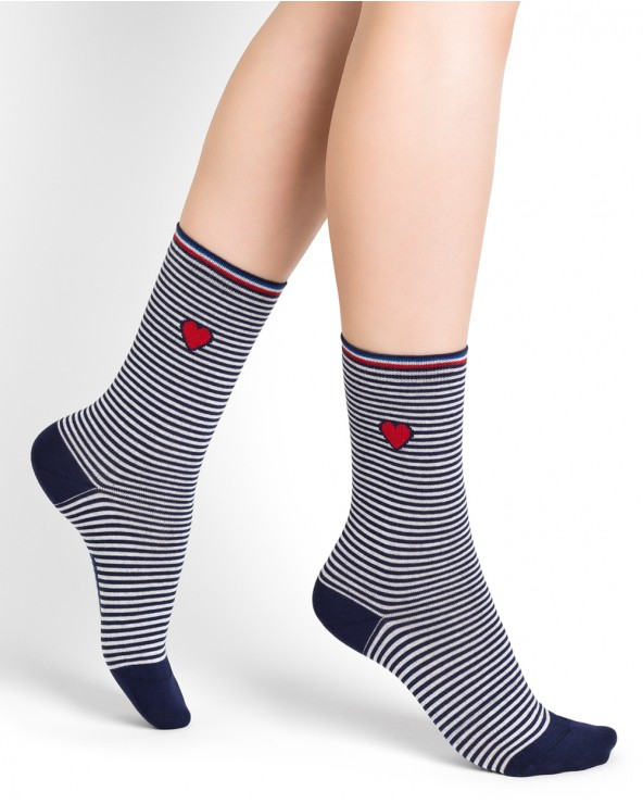 Baumwollsocken Matrosen-Optik