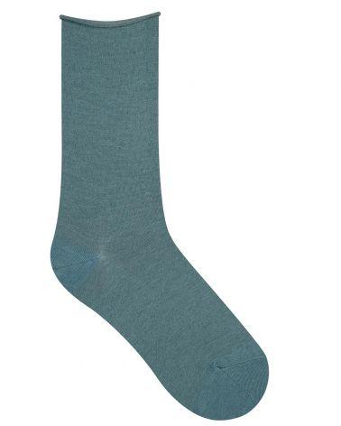 Socken Wolle Rollsaum